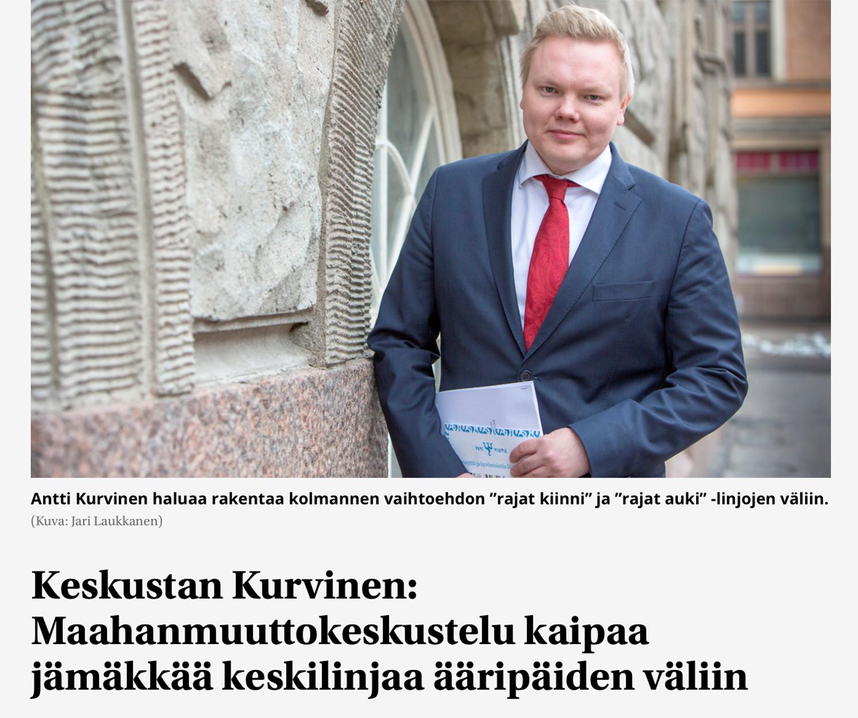 Kuvakaappaus Suomenmaan uutisesta